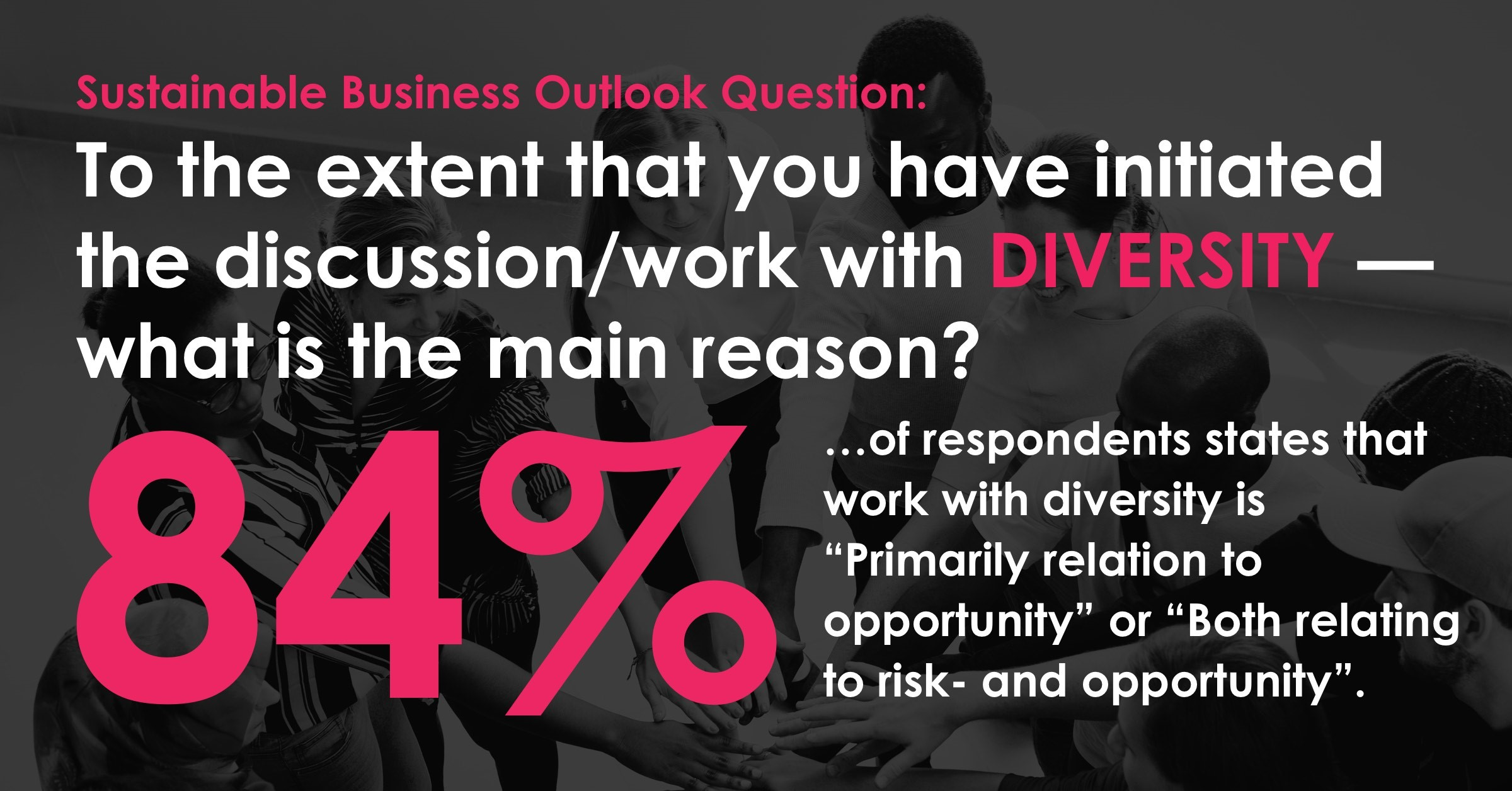 84% see opportunity in diversity
